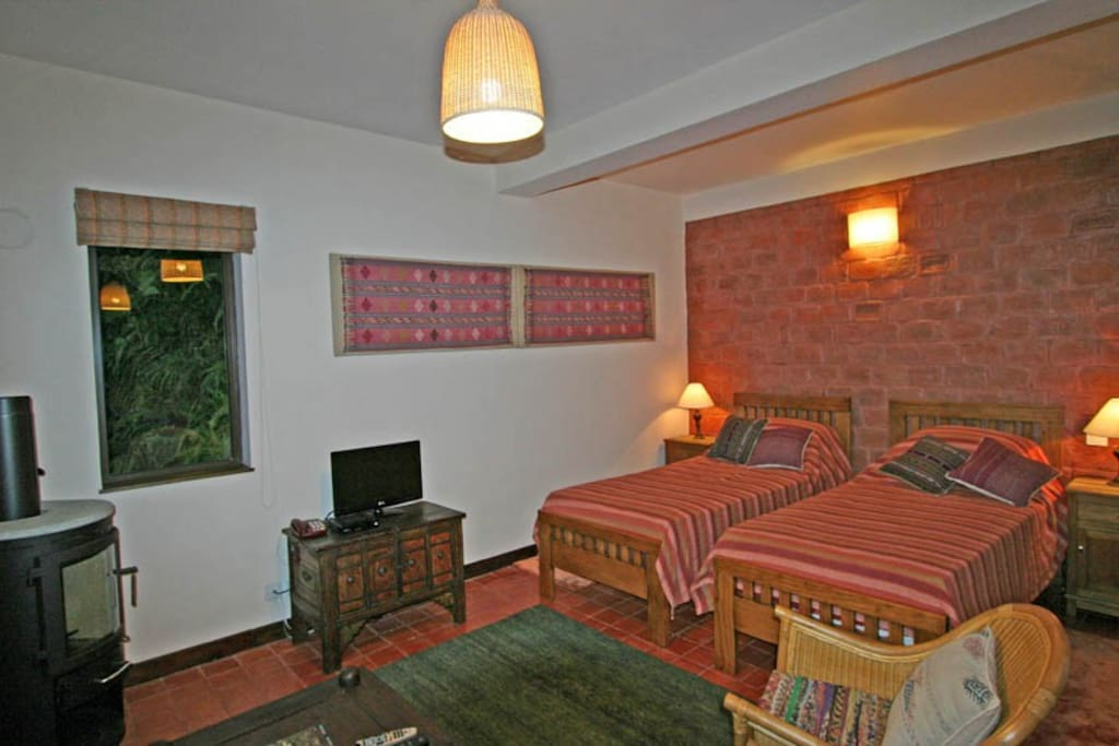 Decorated in Himalayan style with authentic antiques.