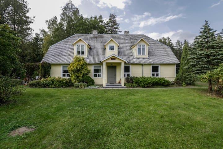 Uuejärve house at Kõrvemaa forest
