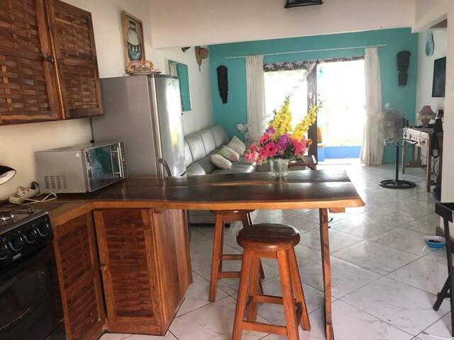 Open plan spacious kitchen and lounge area