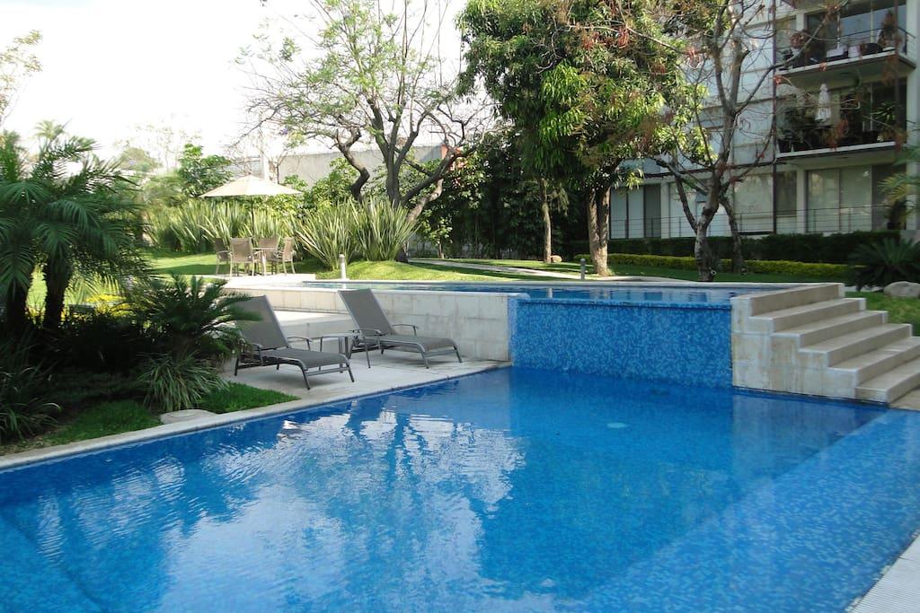 Art ph green terrace with private hot pool apartamentos - Bajar ph piscina salfuman ...