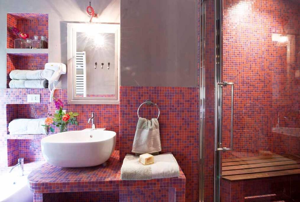 Il bagno con bagno turco