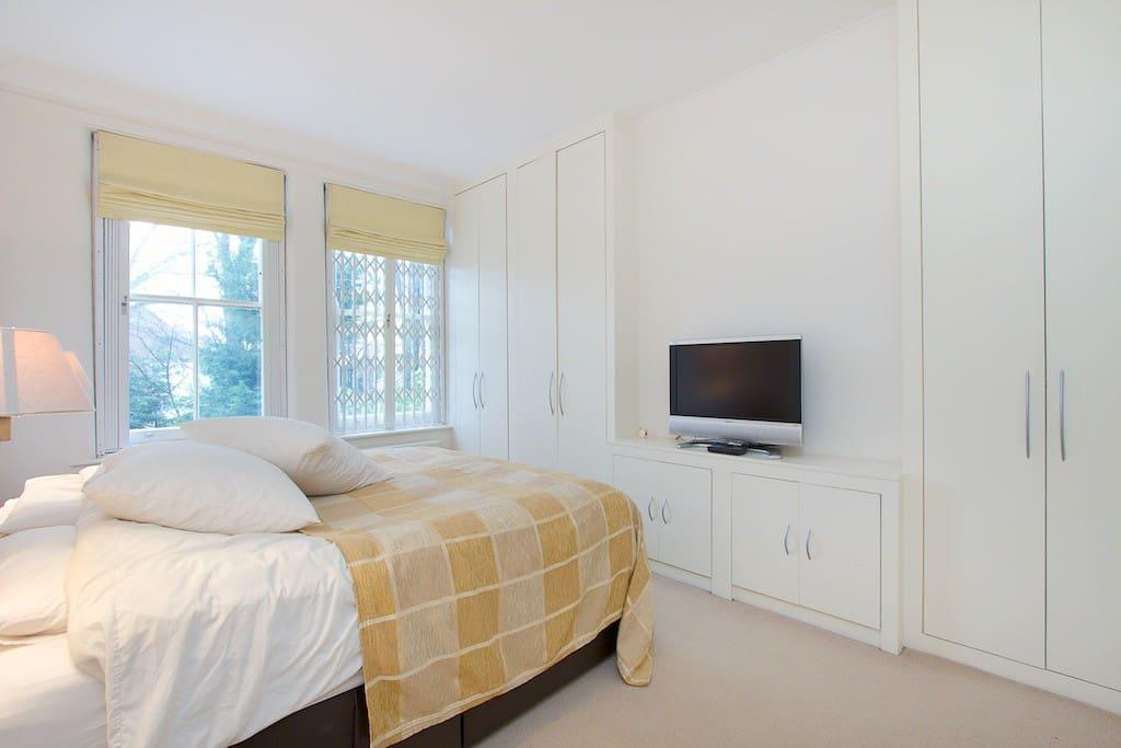 Huge main bedroom  with super king size bed