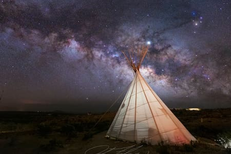 Las Estrellas Tipi at the Buzzard's Roost