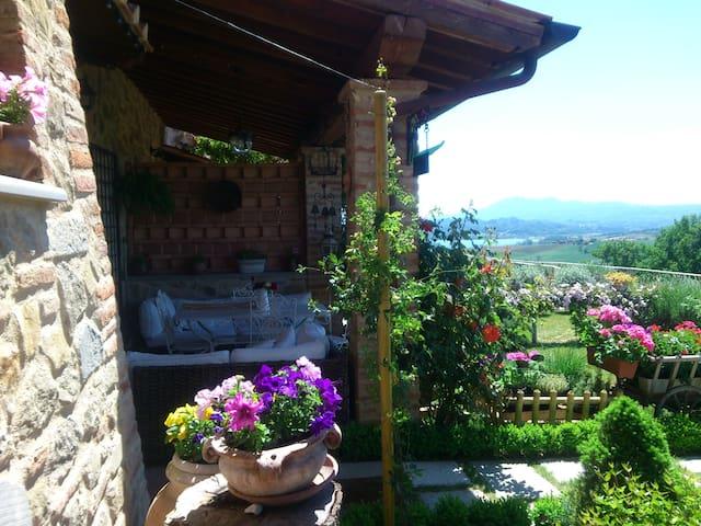 Appartamento in casale in pietra - Castiglione del Lago - Apartemen