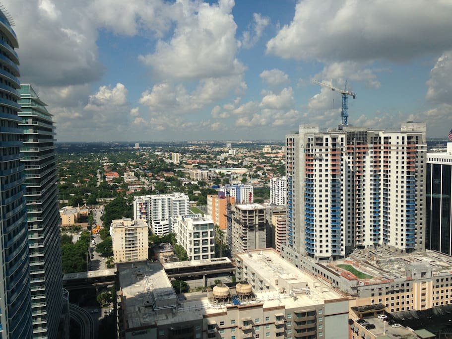 Amazing view of downtown Brickell.