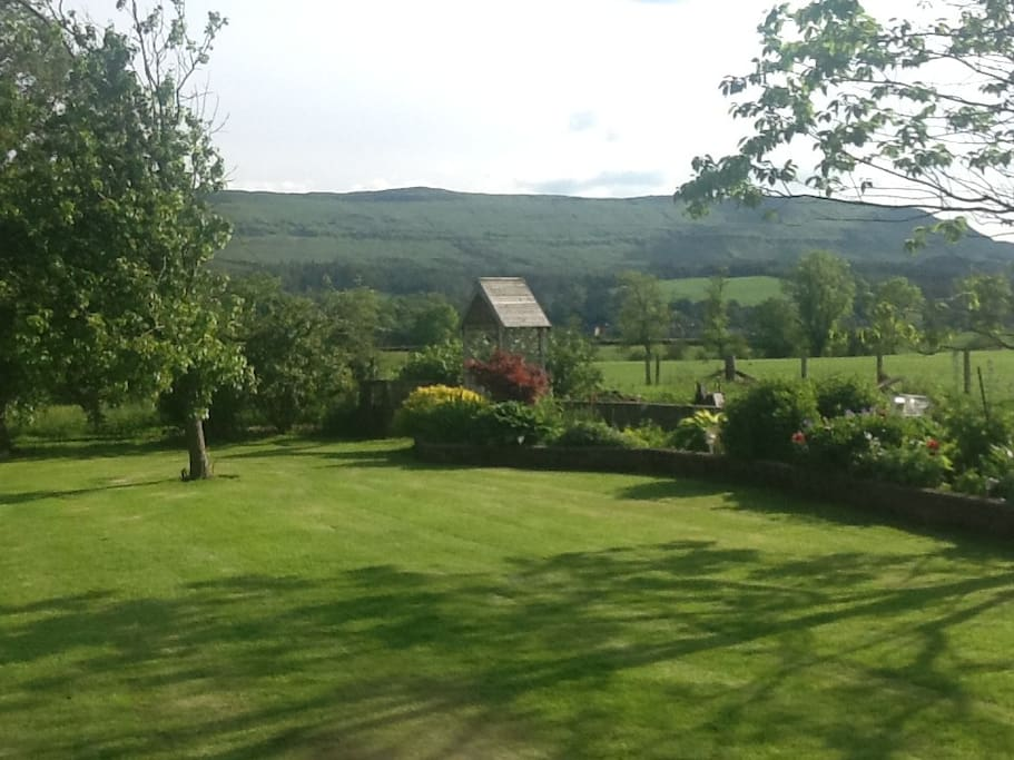 Views from the deck/patio toward Gargunnock Hills