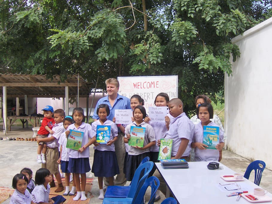 Our local temple school welcomes guests who wish to volunteer any time they have available