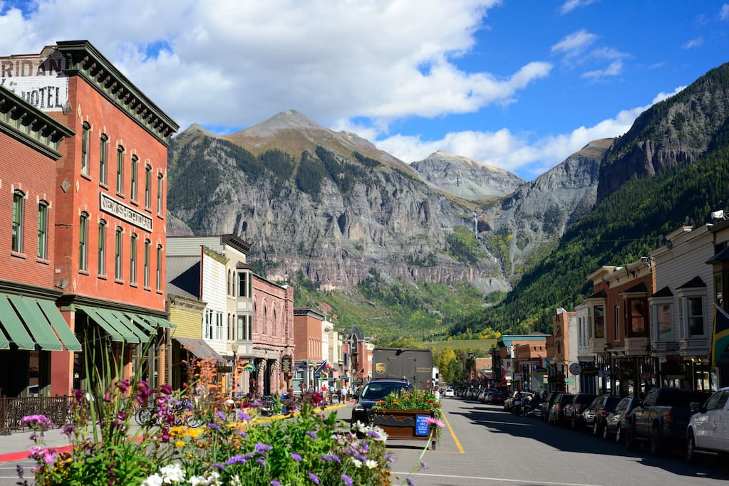 Telluride main street, just a 5 minute walk