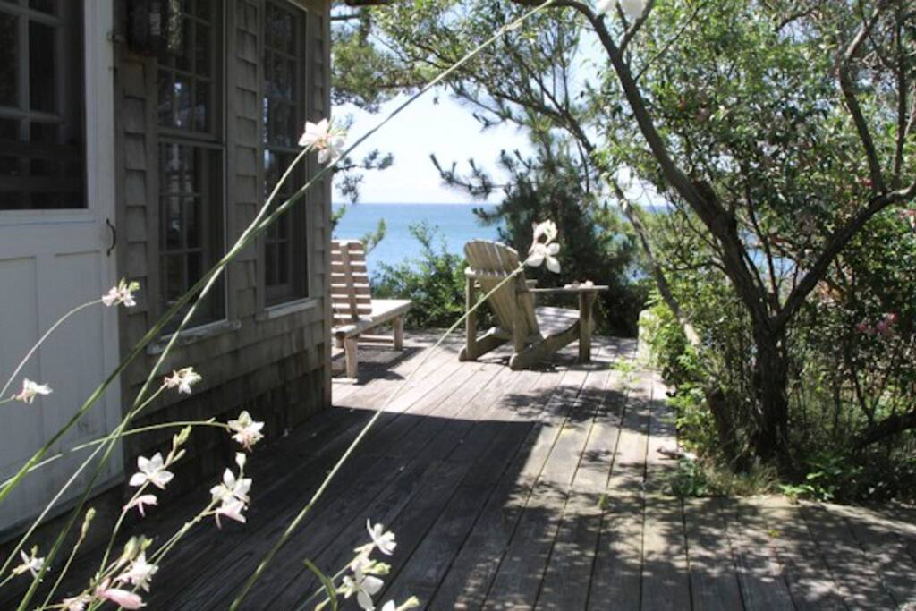 Private deck facing the bay.