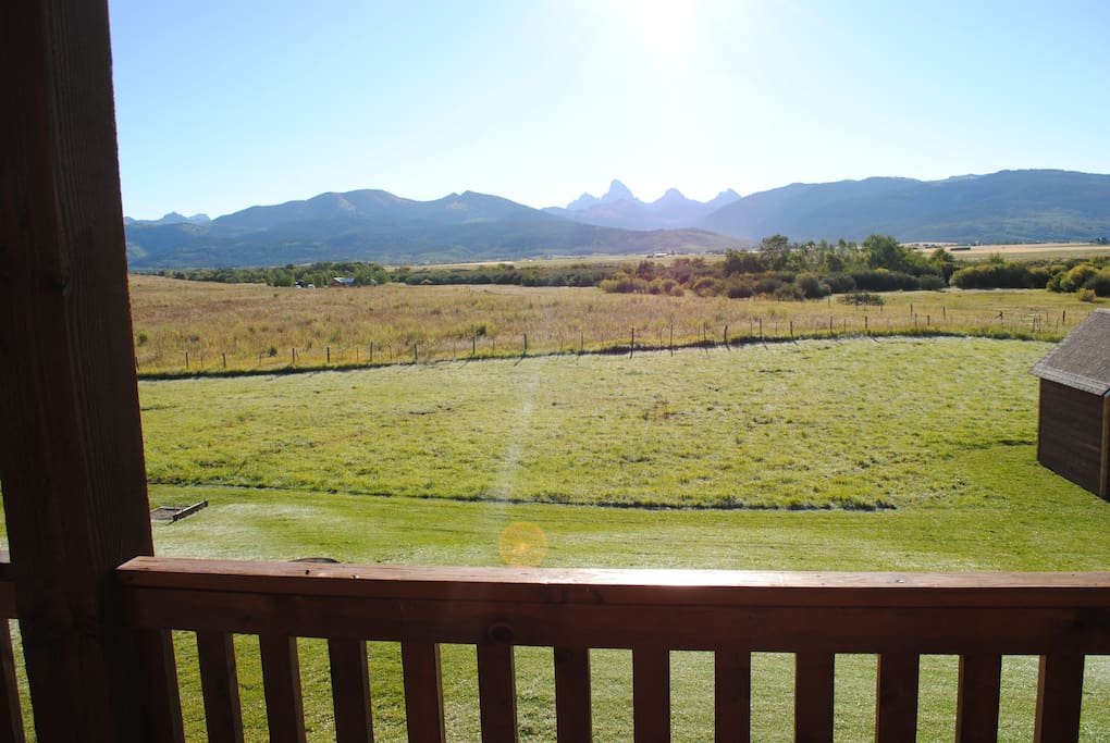 View of the Tetons off the back decks.