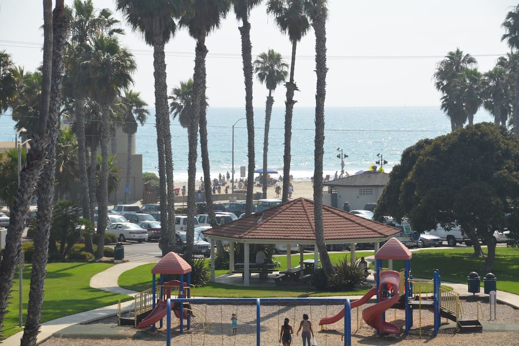 Buccaneer Beach and Park. *This photo is taken from the end of our street.