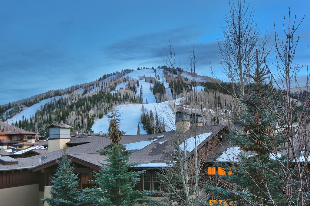 View of Deer Valley Ski Area from back deck