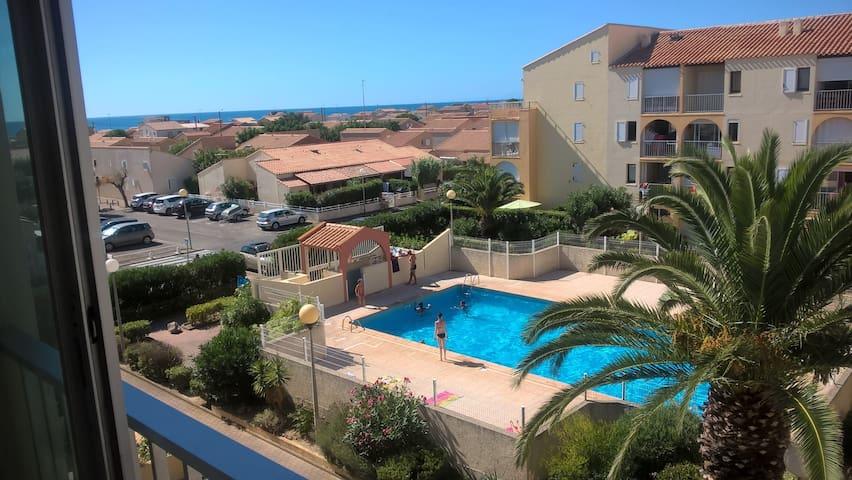 Appartement mer et piscine NARBONNE-PLAGE - Narbonne - Leilighet