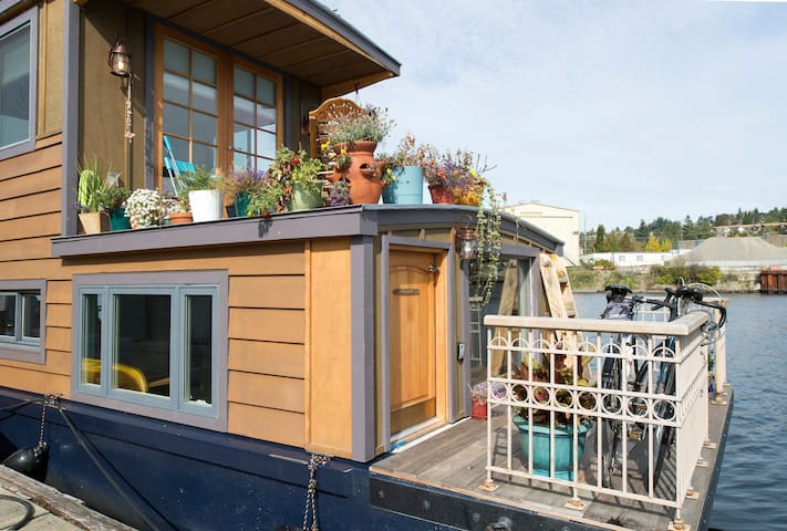 Right-on Rutabaga Houseboat - Seattle - Huis