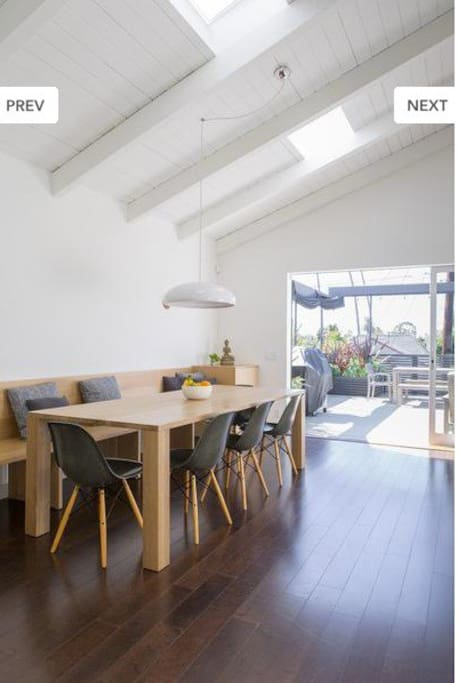 Light and Airy Adult Dining table - beautiful views