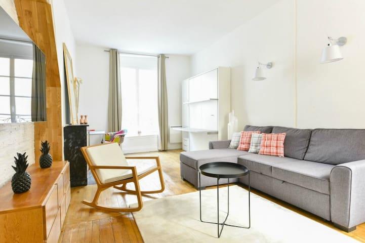 Bleu Anastase, 1BR/1BA for 3 people - Parigi - Appartamento