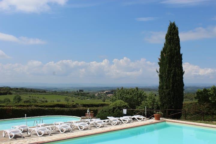 Pergolato in terrazzo, piscine panoramiche e SPA