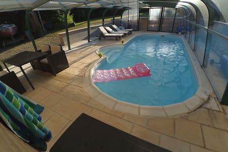 chambre accés indépendant, piscine - Bauquay