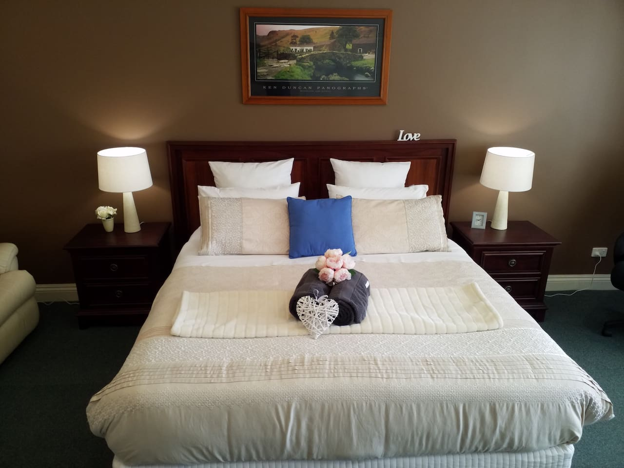 Relax in luxury in your king bed suite