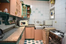 Kitchen: Fully equipped kitchen with fridge, freezer, oven, washer, microwave, dishwasher, full sets of plates, pans...etc
