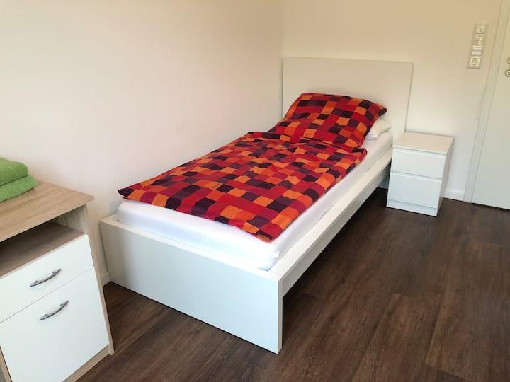 Einbettzimmer mit Gartenblick Gästehaus Witteborg
