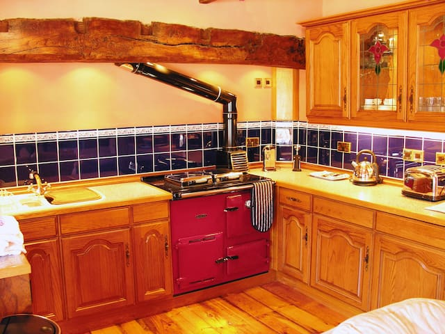 Open plan living area with Aga/Rayburn.