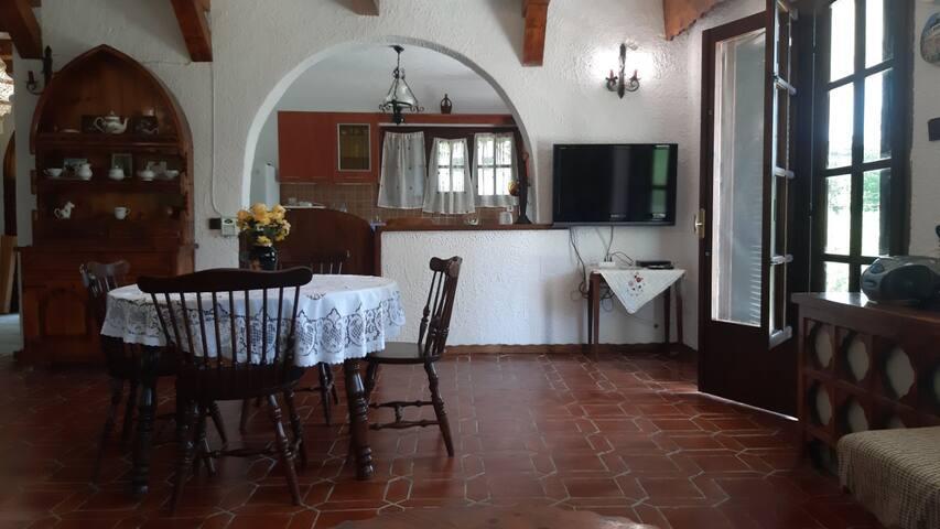 Living room and kitchen on the ground floor (photo taken in May 2019)/Гостиная и кухня на первом этаже (Фото сделано в мае 2019).