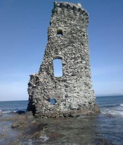 maison avec terrasse dans hameau 10 mn de la mer.. - Rogliano