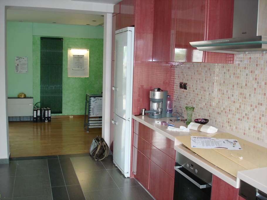 the cooking area