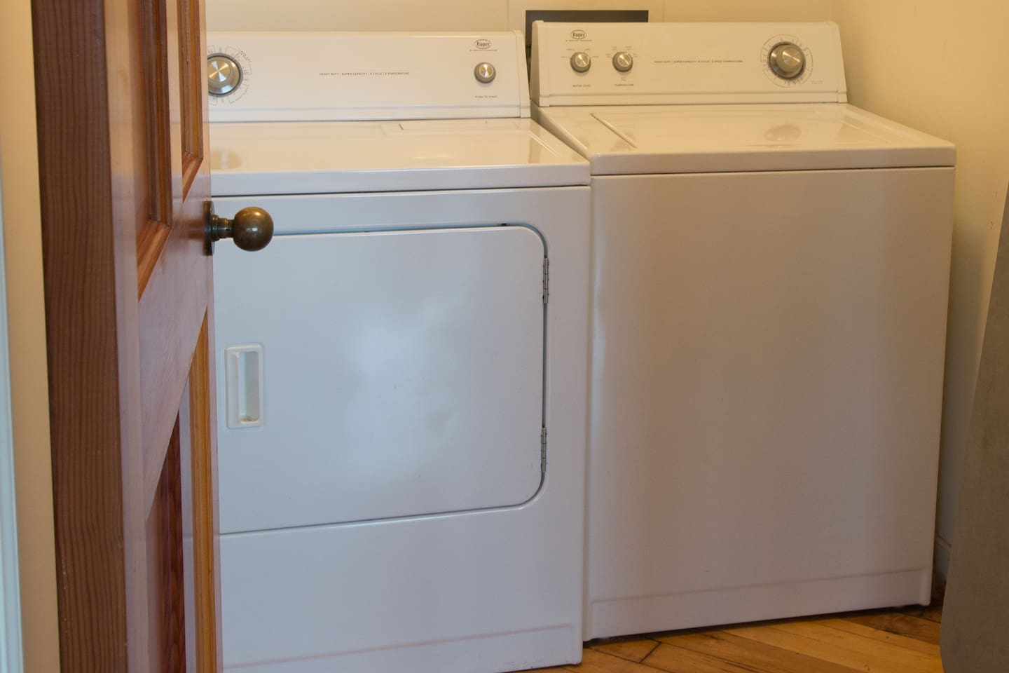 A laundry room all to yourselves! Yes we provide detergent!