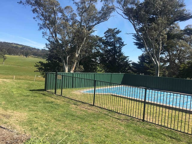 Large swimming pool with lovely views around