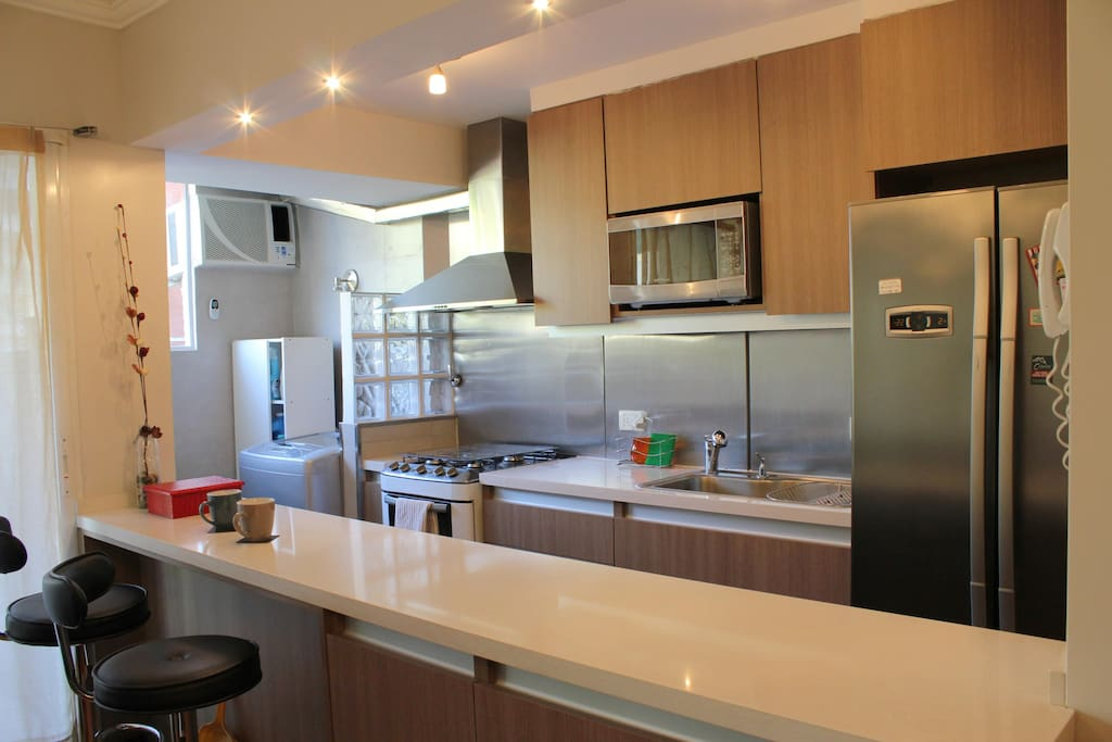 Renovated, fully equipped open kitchen