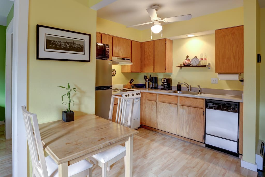Eating area and kitchen