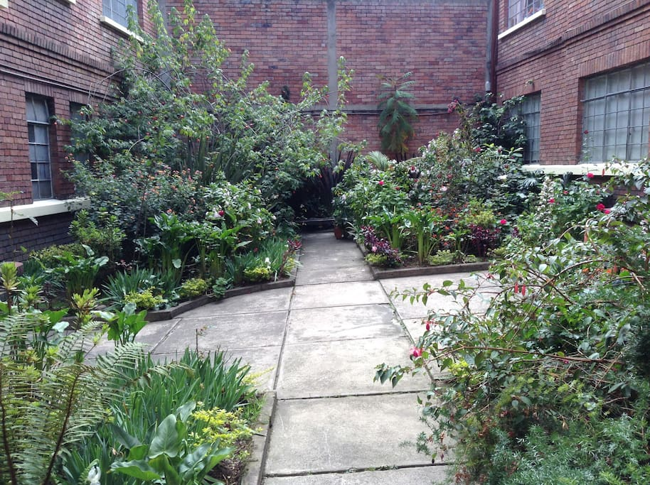 Entrance patio
