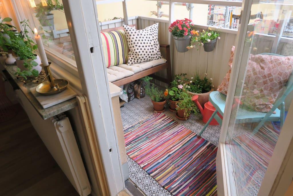 Tranquil balcony
