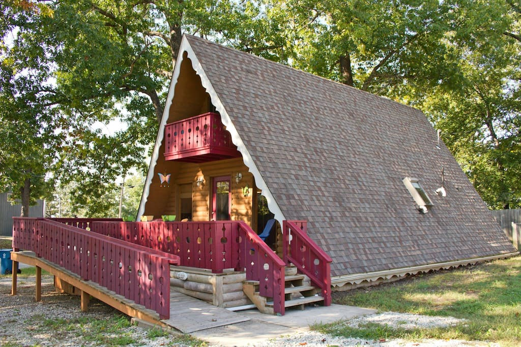 This sweet chalet is a dream come true, yet close to all the comforts of the real world.