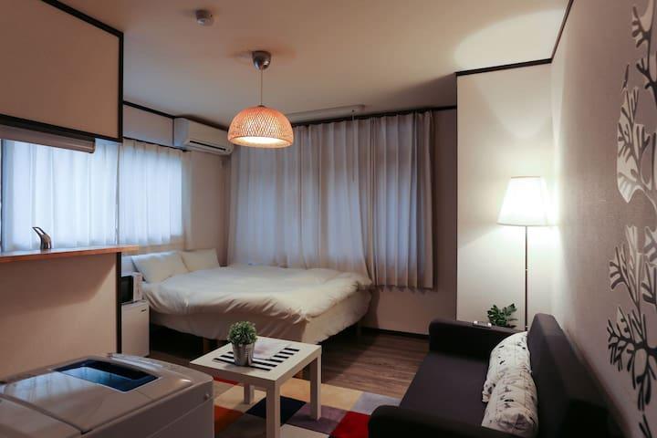 2.Shijo 3min! Kyoto 4min!3ppl!mWiFi - Nakagyo Ward, Kyoto - Wohnung