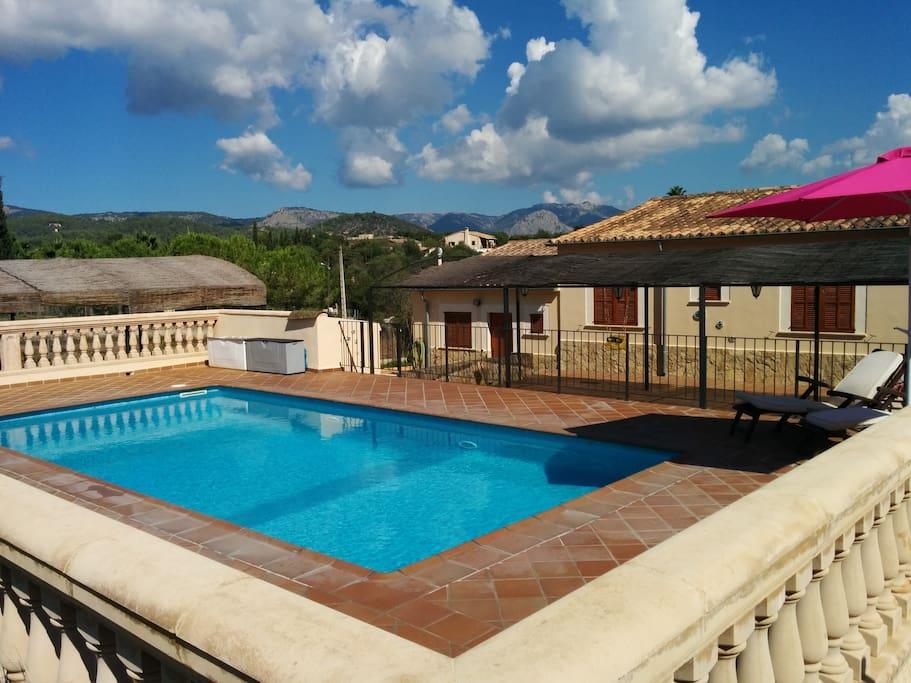 Casa rural con piscina casas de invitados en alquiler en - Piscinas palma de mallorca ...