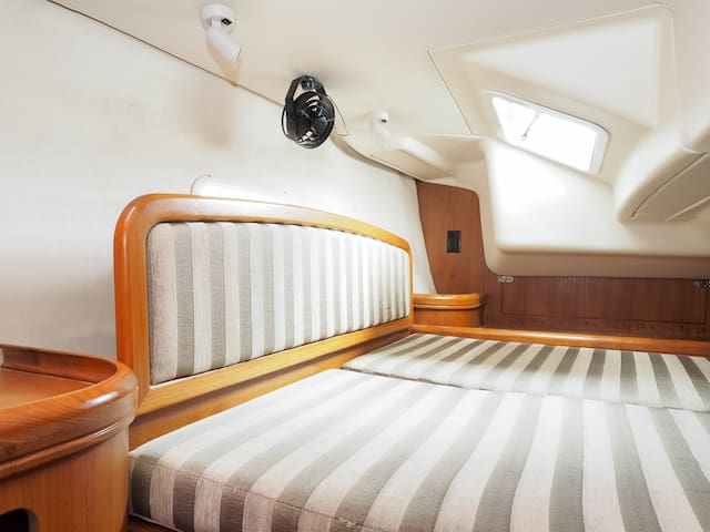 Aft stateroom with Queen birth