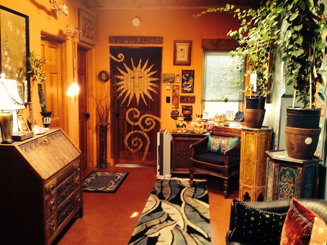 Serene Double Room in the Woods - Santa Fe - Casa