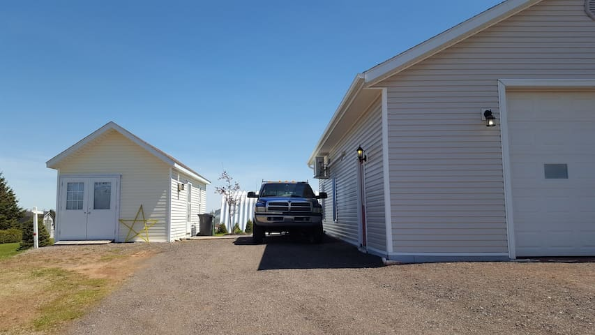 parking for unit is beside the garage.
