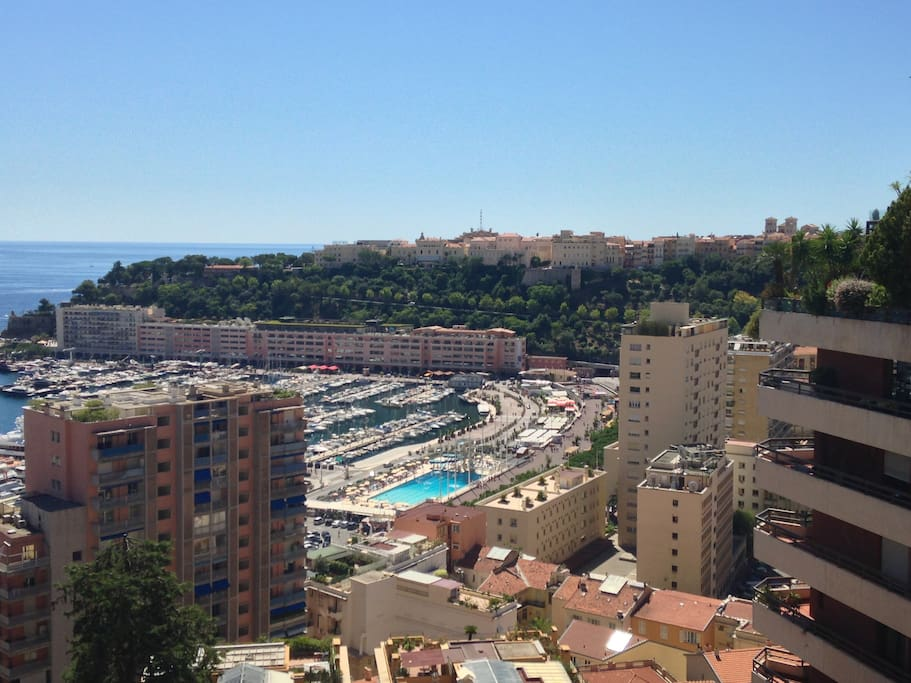 View towards Monaco Palace on the hill from nearby