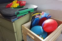 We have yard games and toys for all ages.