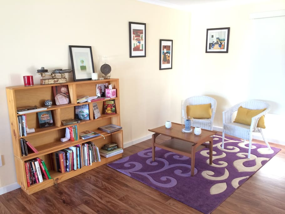 Space to read and have a cuppa in the open plan kitchen/dining/living room