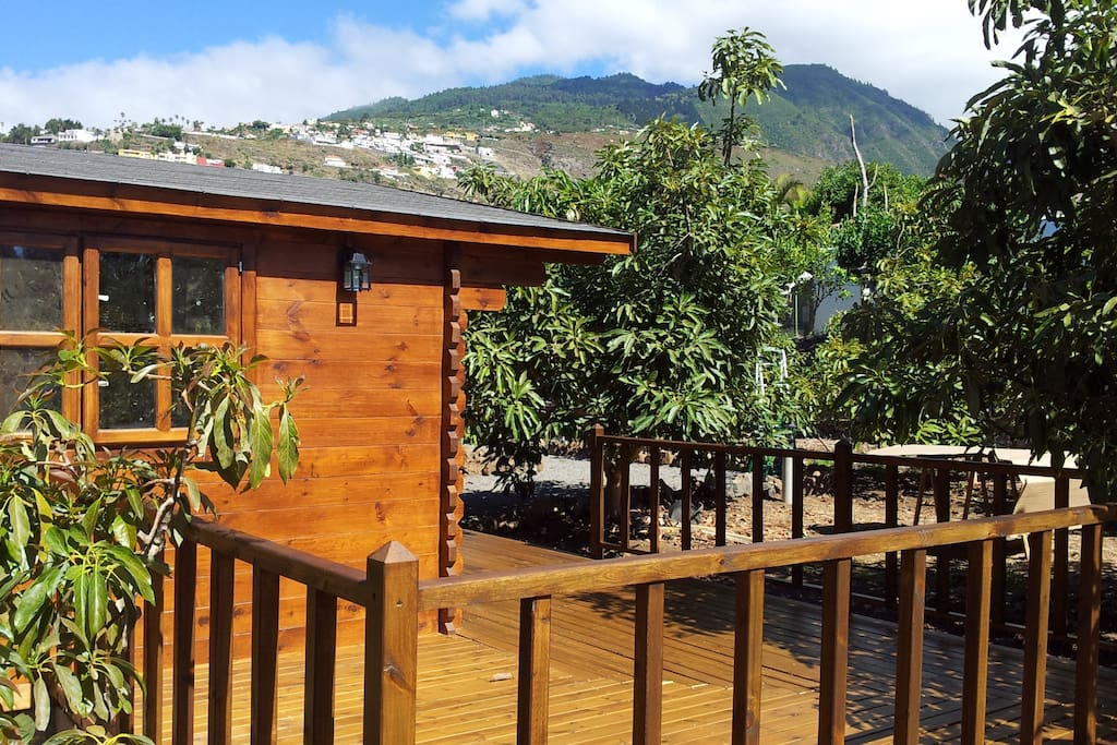 Your private sunny deck with views to the mountains
