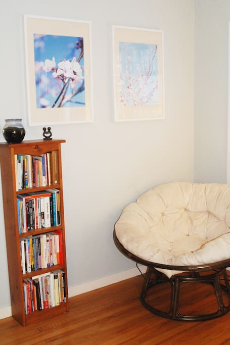 Cozy corner for reading or having tea.