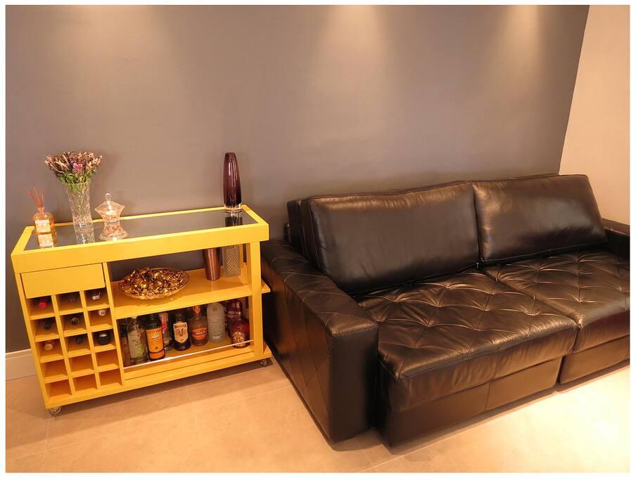 Super comfortable sofa! Recliner to watch TV.