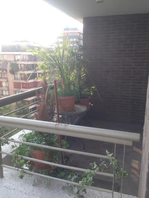 terraza de habitación en suite