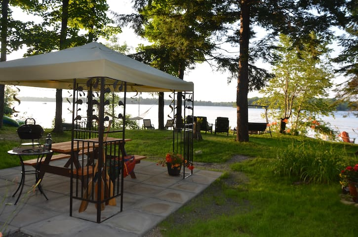 View of lake from BBQ area
