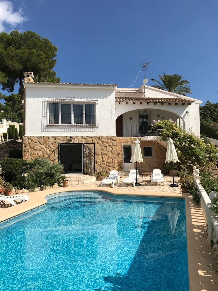It's a short walk to town from this popular villa.